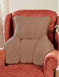 Upright Armchair Faux Sheepskin Comfort Lower Back Support Upright Armchair Pillow