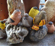set of 6 poppet bird garden ornaments lustres the potting