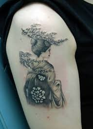 geisha tattoo u2013 japanese geisha design on shoulder tattooshunter com