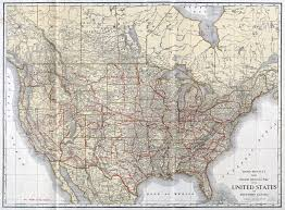 Large Maps Of The United States by Large Scale Detailed Old Railroad Map Of The United States And