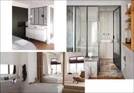 salle de bains dans chambre chambre coucher moderne avec dressing galerie et chambre avec