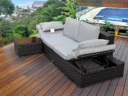 Patio Sofa Bed Round Patio Lounge Chair Both Flat And Rattan TheSofa - Outdoor sofa beds