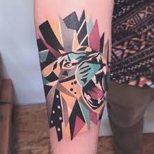 fierce geometric animal tattoos by karl marks tattoodo