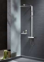 thermostatic shower system nt6705c with shower hose and hand thermostatic shower system nt6705c with shower hose and hand shower squared shower head optional