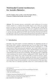 writing introduction to research paper multimodal control architecture for assistive robotics springer converging clinical and engineering research on neurorehabilitation ii