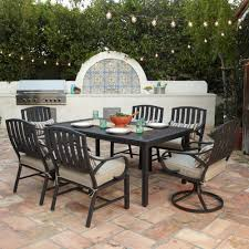 7 Piece Patio Dining Set With Swivel Chairs - royal garden norman 7pc cushion outdoor patio dining set