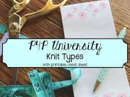 knit types patterns for pirates