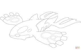 kyogre coloring pages kyogre pokemon coloring page free printable