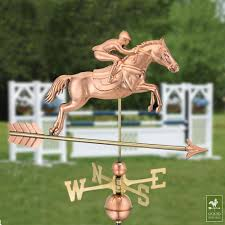 Horse Weathervane On Stand Amazon Com Good Directions Jumping Horse U0026 Rider Weathervane