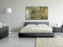 decoration bedroom marvelous artwork portray over gray low profile