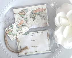 wedding favor luggage tags world map luggage tag personalization available my wedding favors