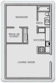 400 Sq Ft Apartment Floor Plan 609 Anderson One Bedroom E 600 Square Feet Dream Home