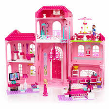 mega bloks barbie build n style luxury mansion play set walmart