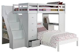 Bookcase With Ladder Freya Loft Bed With Bookcase Ladder In White 37145