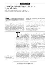 sliding genioplasty using fresh frozen bone allografts