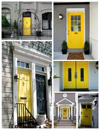 exterior door house appeal the vibrant yellow painted front arafen