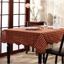 farmhouse style table cloth burgundy checked cotton tablecloth kitchen ideas pinterest