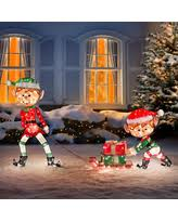 Outdoor Christmas Decorations Lighted Presents by Bargains On Improvements Lighted Glass Pumpkins Fall Decor Set Of 3