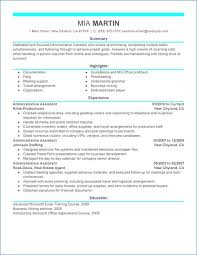 resume exles for sles of resumes for administrative assistant