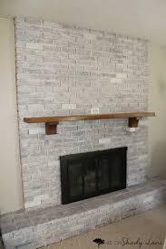how to whitewash a brick fireplace life on shady lane