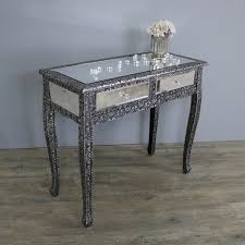 mirrored console vanity table silver mirrored dressing table monique range melody maison