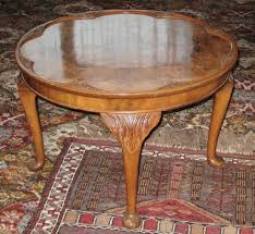 pie crust end table antique 1920 s 1930 s queen anne style figured burr walnut pie