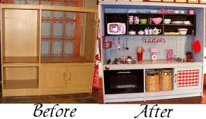 pretend kitchen furniture here s how to make a play kitchen from an entertainment center