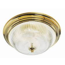 design house 3 light polished brass ceiling fixture with clear
