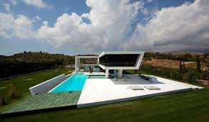 architecture futuristic home design alongside cantilever room