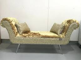 Upholstered Chaise Lounge Mystere Gold Velvet Upholstered Chaise Lounge Chair Victorian Gold