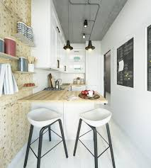 two takes on the same super small apartment kitchen designs