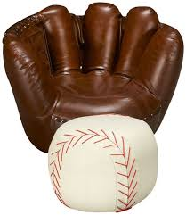 sport themed baseball glove chair baseball ottoman belfort furniture chair ottoman home ottomans gloves and room