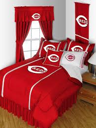 mlb cincinnati reds comforter set baseball bedding queen walmart com