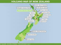 Different Types Of Maps Volcano Map Of New Zealand U2014 Science Learning Hub
