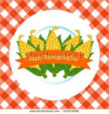 thanksgiving day corn cob seamless pattern checkered greetings