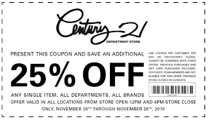 black friday store coupons century 21 black friday deal the choosy beggar