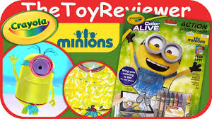 minions crayola color alive action coloring pages unboxing toy