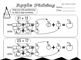 subtraction subtraction worksheets using partitioning free