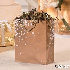 medium gold white wedding gift bags