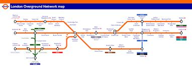 Orange Line Metro Map by London Overground Train Rail Maps