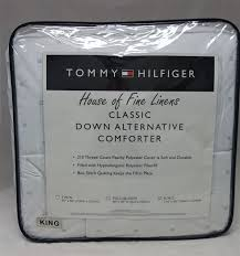 tommy hilfiger classic logo down alternative king comforter