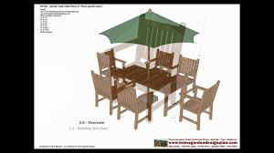 gt100 garden teak table woodworking plans outdoor furniture
