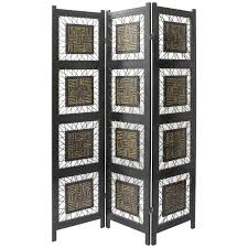 folding room dividers black rattan folding room divider with black wooden stand and base