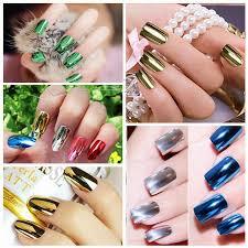 8pcs set uv led nail polish metallic soak off color nail art