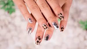 mr kate diy metallic leopard foil nail art