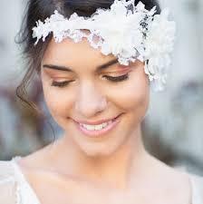 serre tãªte mariage serre tête de mariage asymétrique à fleurs blanches en dentelle