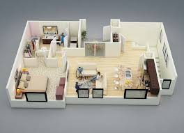 While A One Bedroom Space Might Seem Dinky Compared To A Suburban - One bedroom design