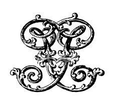 ornamented monogram letters ff stock photos freeimages