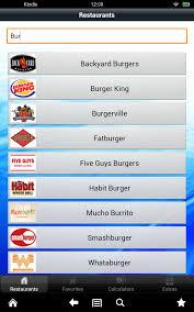 amazon com restaurants u0026 nutrition fast food calories