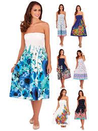 womens 3 in 1 strapless halterneck summer dress stretch maxi